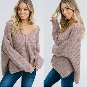Tops - SHILOH loose fit sweater - TAUPE